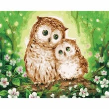 -Frameless DIY Oil Painting By Numbers Hand Painted Modern Wall Canvas Painting Picture For Living Room (Owl) on JD