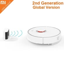 -Xiaomi roborock S50 2nd Generation International Version Smart Vacuum Cleaner Intelligent Sensors System Path Planning on JD