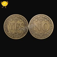 87502-Three-dimensional relief YES OR NO decision coin commemorative coin collection lucky love coin antique bronze craft gifts on JD