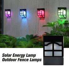 smart-light-bulbs-Solar Energy Lamp Outdoor Fence Lamps Garden Waterproof Landscape Courtyard Lights Street Stair Wall Colorful Light With Three-way on JD