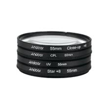 lens-filters-49mm 52mm 55mm 58mm 62mm 67mm 72mm 77mm Filter Kit UV CPL Close Up 4 Star 8 Point for Nikon Canon DSLR Cameras PJ50 on JD