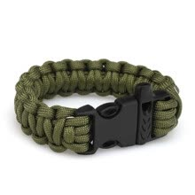 hologram-bracelets-Outdoors Survival Rope 550 Paracord Escape Emergency Bracelet Wristband Bracelet on JD