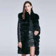 fur-Winter Coat Women Fox Coat Genuine Leather Coat Furry Coat Hem Removable Design Warm 2018 New Discount Sleeves Removable on JD
