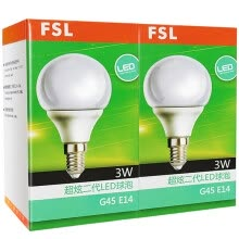 -[Jingdong supermarket] Foshan lighting (FSL) LED bulb energy-saving bulb 3W small mouth E14 warm white 3000K 2 support on JD