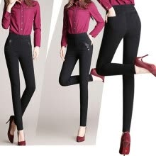 875061825-New Spring And Autumn High Waist Elastic Plus Size women Skinny Pants Imitation Denim pants Femme leggings XS-5XL on JD