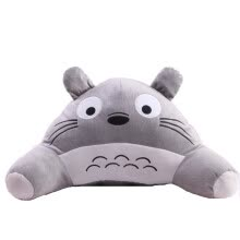 -  depressed swine cute little black cat plush toy cushions car lumbar decompression lumbar pad office waist pillow on JD
