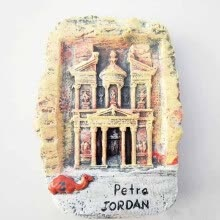 -1Pcs 3D resin Jordan Petra Fridge Magnets Tourism Souvenirs Handmade Magnetic Refrigerator Stickers Home supplies on JD