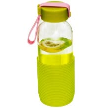 -[Jingdong Supermarket] Ke Rui Siduo glass water cup NC-8902 intellectual element sports cup portable carrying water glass car leakproof cup 300ml color random on JD