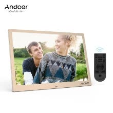 875072536-Andoer 12inch Led Digital Photo Frame 1280 * 800 Resolution Support 1080p Video Random Play Aluminum Alloy with Remote Control Chr on JD