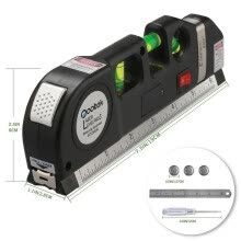 8750213-Multipurpose Laser Level Horizon Vertical Measure Tape 8FT Aligner With Ruler on JD