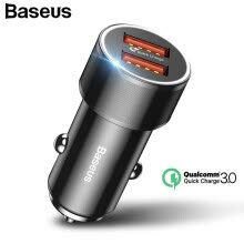 -Baseus 36W Dual USB Quick Charge QC 3.0 Car Charger For iOS Android Mobile Phone Smartphone on JD