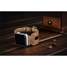 -Brown Coffee Retro Genuine Leather Watch Strap for Apple Watch Band Metal Buckle Bracelet for iWatch Wristband 38mm on JD
