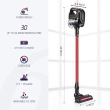 -MAXKON Cordless Stick Vacuum Cleaner, 3 in 1 Lightweight Handheld Bagless Vacuum Cleaner Tools, Multi-Cyclonic Filters on JD