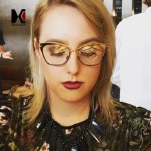 c54950d7a6d SHAUNA Metallic Legs Ultralight Women Cat Eye Eyeglasses Fashion Lady Clear  Lens Glasses Frame UV400