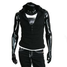 vests-Zogaa New Men's Vest Buttons Hooded on JD