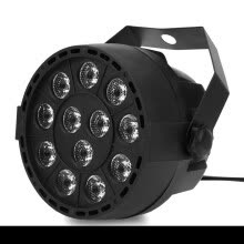 floodlights-12 LEDs RGBW Color Mixing Par Lamp 8CH Voice Activated Stage Light Intelligent voice control the color will change with music on JD