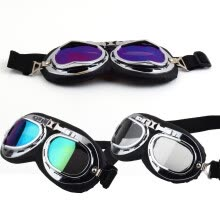 -Vintage Anti-UV Motorcycle Scooter Pilot Goggles Helmet glasses Motocross on JD