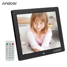 875072536-Andoer 12  HD LED Digital Photo Picture Frame 800 * 600 MP4 MP3 Movie Player E book Clock Calender with Remote Control Christmas on JD