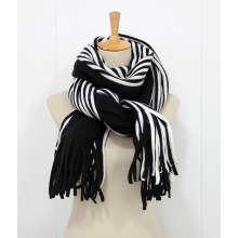 -New winter and winter striped cashmere scarf scarf  Double sided men and women thickening warm shawl scarves on JD