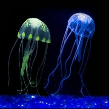 8750208-MyMei Artificial Jellyfish Glowing Effect Nice Beauty Artificial Fake Jellyfish Ornament for Aquarium Fish Tank 6 Colors on JD