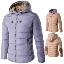 875061442-AOWOFS2018 winter new men's double hooded cotton coat high quality waterproof thick warm cotton jacket cotton jacket D016 on JD