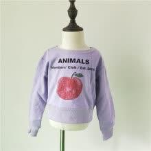 5d6eb665af36 Spring Autumn short sweatshirt red fruit letter print for kids children  clothing