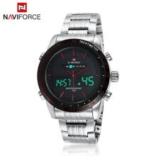 -NEW LED Day Date Alarm Dual Time Steel Sport Наручные мужские часы Backlight BK 11LU on JD