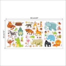 -Wall sticker Many Animals Home Decal Kids Baby Room Decor Art Vinyl Mural Funny on JD