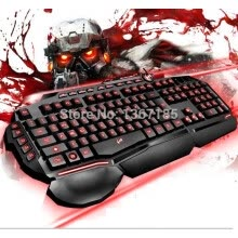 875061464-2016 Hot! T20 USB Backlit Keyboards Mouse Pad Gaming Keyboard LED Keyboard Colorful Silent Keyboard Backlit on JD