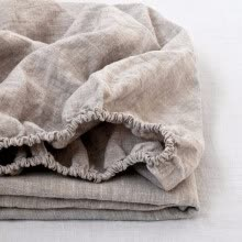 -100% Linen Fitted Sheet Stone Washed Pure Linen 1Pcs For Twin Full Queen King Size on JD