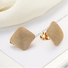 -Lovely girl square ear clip unique design wedding earrings fashion accessories handmade combination on JD