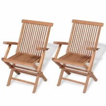 other-furniture-Teak Garden Chairs 2 pcs 55x60x89 cm on JD