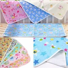 -Waterproof Urine Mat Cotton Soft Nappies Cover Pad Cloth For Baby Newborn Infant Baby Bedding Sheets Pink Yellow Blue on JD