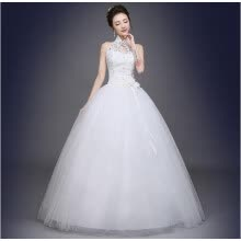 -Wedding dresses, the bride shoulders waist, thin and neat on JD