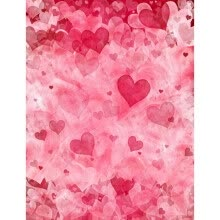 875072536-Pink Hearts Photo Backdrop 5*7FT Vinyl Fabric Cloth Digital Printing Photo  Background for Birthday s-2287 on JD