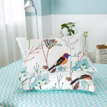 shams-bed-skirts-bed-frame-draperies-Home Textile Beauty Flower Brid Pattern Pillowcase 100% Cotton Bedding Pillow Cover Cartoon Animal Pillow Shams 48x74cm 2 Pieces on JD