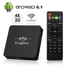 tv-boxes-Kingbox Android 8.1 TV Box Model X  2GB RAM 16GB ROM Quad-Core Support Dual-Band WiFi 2.4G+5G/4K/3D/H.265 S on JD