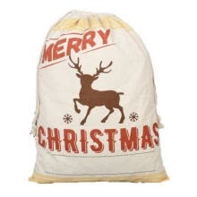 -Christmas Gift Candy Bags Canvas Santa Drawstring Sack Party Favors Xmas Décor on JD