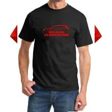 -2012-16 Jeep Grand Cherokee Classic Red Color Design Tshirt on JD