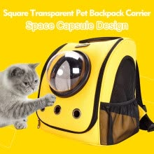 -Square Transparent Pet Backpack Carrier  for Cats Dogs Space Capsule Bubble Design with Transparent Window Breathable Waterproof P on JD