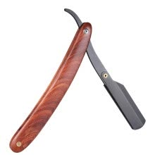 hair-removal-cream-Straight Razor Manual Edge Razor Stainless Steel Folding Shaving Razor Wooden Handle Blade not included on JD