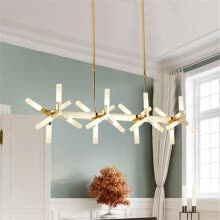 ceiling-lights-Baycheer HL487675 Novelty LED Frosted Linear Chandelier 18 Light in White Light,33.46' on JD