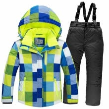 -degrees 2018 Children Ski Suit Set Thick Waterproof Teenage Girl Boy Cold-proof Outdoor Clothes Windproof Winter Suits Kids on JD