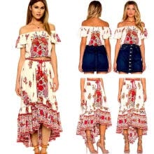 wedding-parties-Fashion Women Summer Boho Floral Beach Dress Evening Cocktail Long Maxi Dress US on JD