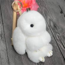 key-chains-MyMei 2016 New Rex Furs Rabbit Plush Toys Key Ring Keychain Pendant Bag Car Charm Tag Cute Mini Rabbit Toy Doll Real Fur Monster on JD