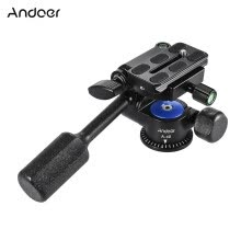 -Andoer A-40 3 Way Camera Video Head Aluminum Alloy 360° Panoramic Photographic Damping Head for Canon Nikon Sony for Tripod Monopo on JD