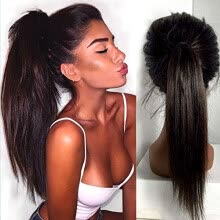 -N.L.W. Silk top Brazilian virgin human hair Silk straight Glueless Full lace wigs with baby hair for black women on JD