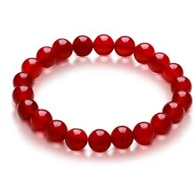 875062455-Le Ling Jewelry Fashion Single Circle Red Agate Bracelet on JD
