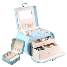 Chandelo (VLANDO) Jewelry Boxes Parents With Makeup Mirrors Jewelry Hand Ornaments Boxes Wedding Valentine's Day Birthday Gift Set Sakura Powder
