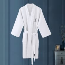 -Kang Xin five-star hotel bathrobes cotton absorbent cotton towel material summer home dressing gown bathrobe unisex white M on JD